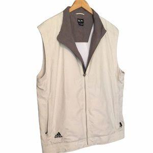 Adidas Clima Proof Wind Men  Golf Vest Full Zip Large